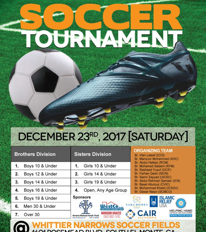 Second Joint Masjid Soccer Tournament