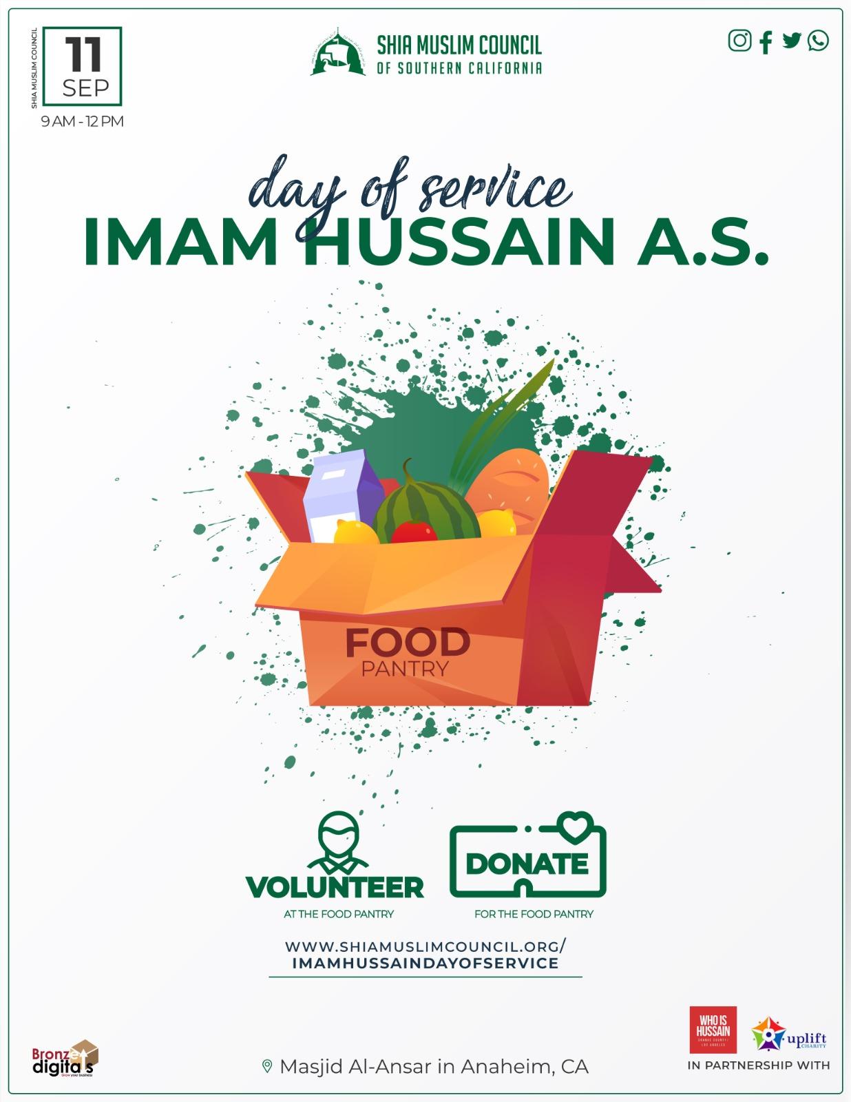 Imam Hussain Day of Service